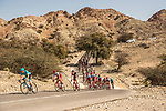 The peleton during Stage 3 of the 2018 Tour of Oman running 179.5km from German University of Technology to Wadi Dayqah Dam. 15th February 2018.<br /> Picture: ASO/Muscat Municipality/Kare Dehlie Thorstad | Cyclefile<br /> <br /> <br /> All photos usage must carry mandatory copyright credit (&copy; Cyclefile | ASO/Muscat Municipality/Kare Dehlie Thorstad)