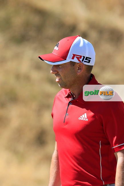Sergio Garcia (ESP) on the 6th green during Friday's Round 2 of the 2015 U.S. Open 115th National Championship held at Chambers Bay, Seattle, Washington, USA. 6/20/2015.<br /> Picture: Golffile | Eoin Clarke<br /> <br /> <br /> <br /> <br /> All photo usage must carry mandatory copyright credit (&copy; Golffile | Eoin Clarke)