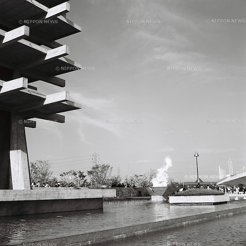 Komazawa Olympic Park,<br /> OCTOBER 1964 - Ambiance shot : A general view of the Komazawa Olympic Park during the 1964 Tokyo Olympic Games in Tokyo, Japan.<br /> (Photo by Shinichi Yamada/AFLO) [0348]