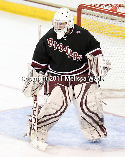 Laura Bellamy (Harvard - 1) - The Boston College Eagles defeated the Harvard University Crimson 3-1 to win the 2011 Beanpot championship on Tuesday, February 15, 2011, at Conte Forum in Chestnut Hill, Massachusetts.
