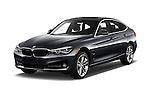 2017 BMW 3-Series 330i-Gran-Turismo 5 Door Hatchback Angular Front stock photos of front three quarter view