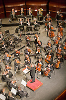 Musical Director, Neeme Jarvi conducting the New Jersey Symphony Orchestra, performing at the New Jersey Performing Art Center, Newark, New Jersey