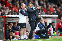 Wycombe Wanderers Manager Gareth Ainsworth during the Sky Bet League 2 match between Stevenage and Wycombe Wanderers at the Lamex Stadium, Stevenage, England on 17 October 2015. Photo by PRiME Media Images.