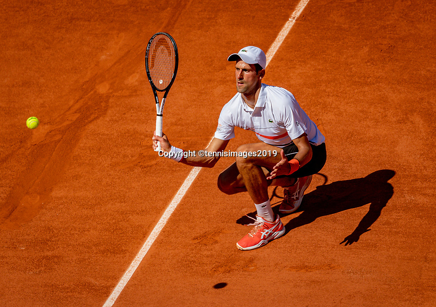 Paris, France, 1 june, 2019, Tennis, French Open, Roland Garros, Novak Djokovic (SRB)<br /> Photo: Henk Koster/tennisimages.com