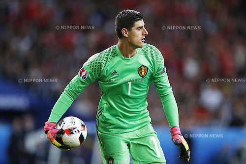 Thibaut Courtois (BEL), JULY 1, 2016 - Football / Soccer : UEFA EURO 2016 Quarter-finals match between Wales 3-1 Belgium at the Stade Pierre Mauroy in Lille Metropole, France. (Photo by Mutsu Kawamori/AFLO) [3604]