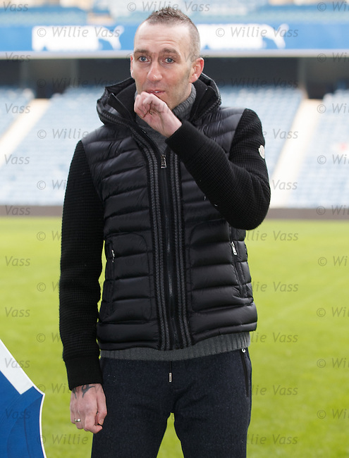 Fernando Ricksen at Ibrox Stadium this morning