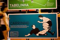 Sao Paulo_SP, Brasil...Painel no Museu do Futebol no estadio Pacaembu em Sao Paulo. ..Museum panel in Museu do Futebol in Pacaembu stadium in Sao Paulo...Foto: MARCUS DESIMONI /  NITRO