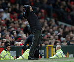 Josep Guardiola manager of Manchester City takes breather on the touchline during the Carabao Cup match at Old Trafford, Manchester. Picture date: 7th January 2020. Picture credit should read: Darren Staples/Sportimage