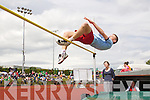 Brian Sugrue, Caherciveen in the Boys u-16 High Jump at the Kerry community games athlethics finals at an Riocht, Castleisland on Sunday.
