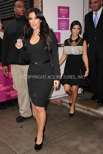WWW.ACEPIXS.COM . . . . . .January 19, 2011...New York City...Kim Kardashian and Kourtney Kardashian visit the Wendy Williams Show on January 19, 2011 in New York City....Please byline: KRISTIN CALLAHAN - ACEPIXS.COM.. . . . . . ..Ace Pictures, Inc: ..tel: (212) 243 8787 or (646) 769 0430..e-mail: info@acepixs.com..web: http://www.acepixs.com .