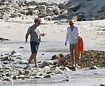 AbilityFilms@yahoo.com.805-427-3519.www.AbilityFilms.com.....4-11-09.Exclusive .John C McGinley playing on the beach in Malibu ca with his lovely baby & wife.