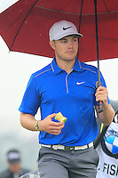 Oliver Fisher (ENG) walks to the 3rd tee during Thursday's Round 1 of the 2014 BMW Masters held at Lake Malaren, Shanghai, China 30th October 2014.<br /> Picture: Eoin Clarke www.golffile.ie