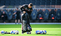 Lincoln City's head of sports science Luke Jelly during the pre-match warm-up<br /> <br /> Photographer Chris Vaughan/CameraSport<br /> <br /> The EFL Sky Bet League One - Milton Keynes Dons v Lincoln City - Saturday 19th September 2020 - Stadium MK - Milton Keynes<br /> <br /> World Copyright © 2020 CameraSport. All rights reserved. 43 Linden Ave. Countesthorpe. Leicester. England. LE8 5PG - Tel: +44 (0) 116 277 4147 - admin@camerasport.com - www.camerasport.com