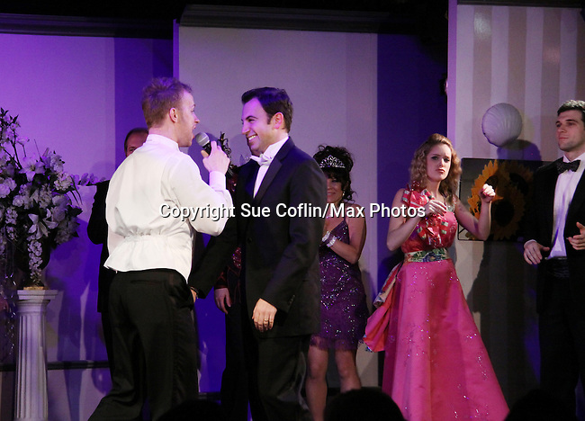 Curtain Call - As The World Turns Marnie Schulenberg and One Life To Live Ilene Kristen star with Marty Thomas & Anthony Wilkinson in My Big Gay Italian Wedding on March 18, 2011 (also 3-17- & 3-20) at St. Luke's Theatre, New York City, New York. (Photo by Sue Coflin/Max Photos)