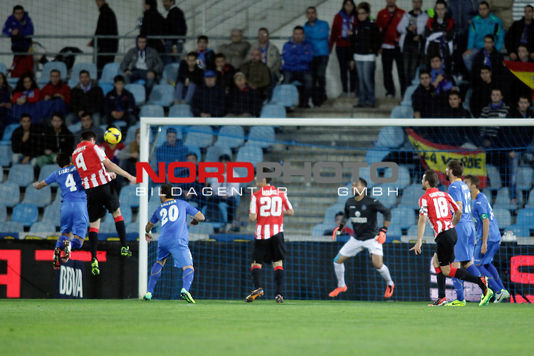 Athletic de Bilbao¬¥s goal during La Liga 2013-14 match at Getafe¬¥s stadium in Getafe, Spain. October 28, 2013. Foto © nph / Victor Blanco)
