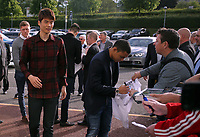 Pictured L-R: Ki Sung Yueng and Jefferson Montero Wednesday 18 May 2017<br /> Re: Swansea City FC, Player of the Year Awards at the Liberty Stadium, Wales, UK.
