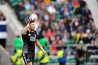 Tim Mikkelson of New Zealand after scoring a try during Day Two of the iRB Marriott London Sevens at Twickenham on Sunday 11th May 2014 (Photo by Rob Munro)