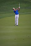 Tano Goya playing his second shot on the second on day one of the Abu Dhabi HSBC Golf Championship 2011, at the Abu Dhabi golf club 20/1/11..Picture Fran Caffrey/www.golffile.ie.