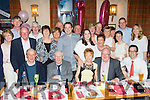 Young at Heart<br /> ---------------------<br /> Marian O'Connor, Athea, Co Limerick (seated centre) had a fab night in Kate Brown's, Ardfert last Saturday night celebrating her 70th birthday along with family and many friends.