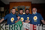 Most known as rivals on the field the Kerry and Cork contingent from Kilgarvan and Coolea/Ballyvourney are holding back their rivarly as they grow their beards and hair for a major cancer fund-raiser at the Top of Coom. .L-R John Creedon, Denis McCarthy, Tim Creedon and Johnny Sweeney