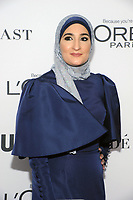 BROOKLYN, NY - NOVEMBER 13: Linda Sarsour  at Glamour's 2017 Women Of The Year Awards at the Kings Theater in Brooklyn, New York City on November 13, 2017. <br /> CAP/MPI/JP<br /> &copy;JP/MPI/Capital Pictures