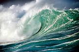 USA, Hawaii, Oahu, shorebreak Waimea Bay, North Shore