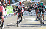 Dan Martin (IRL) UAE Team Emirates crosses the finish line at the end of Stage 4 of the Volta Ciclista a Catalunya 2019 running 150.3km from Llanars (Vall De Camprodon) to La Molina (Alp), Spain. 28th March 2019.<br /> Picture: Colin Flockton | Cyclefile<br /> <br /> <br /> All photos usage must carry mandatory copyright credit (© Cyclefile | Colin Flockton)