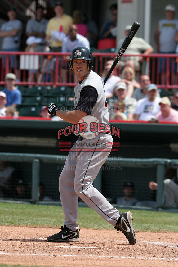 Altoona Curve Simon Pond during an Eastern League game at Jerry Uht Park on May 28, 2006 in Erie, Pennsylvania.  (Mike Janes/Four Seam Images)