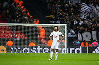 Tottenham Hotspur's Mousa Dembele looks dejected at the final whistle <br /> <br /> Photographer Craig Mercer/CameraSport<br /> <br /> UEFA Champions League Round of 16 Second Leg - Tottenham Hotspur v Juventus - Wednesday 7th March 2018 - Wembley Stadium - London <br />  <br /> World Copyright &copy; 2017 CameraSport. All rights reserved. 43 Linden Ave. Countesthorpe. Leicester. England. LE8 5PG - Tel: +44 (0) 116 277 4147 - admin@camerasport.com - www.camerasport.com