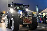"""05.12.2019, Stadtgebiet, Memmingen, GER, Bauern-Demonstration in Memmingen, Ueber 4000 Bauern demonstrierten mit fast 3000 Traktoren in Memmingen. Organisiert wurde die Demo von """"Land schafft Verbindung"""". Auf der anschliesenden Kundgebung sprach ua. die bayr. Landwirtschaftsministerin Michaela Kaniber, <br /> im Bild Traktorkonvoi durch Memmingen, Protestplakate<br /> <br /> Foto © nordphoto / Hafner"""