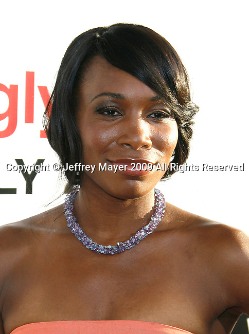 """HOLLYWOOD, CA. - July 16: Venus Williams arrives at the Los Angeles premiere of """"The Ugly Truth"""" held at the Pacific's Cinerama Dome on July 16, 2009 in Hollywood, California."""