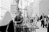 FILE PHOTO -  Sidewalk sale on McGilll-College street, April 1974.<br /> <br /> Photo : Alain Renaud<br />  - Agence Quebec Presse