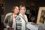 WINSTED,  CT-020819JS06- Lottie Beth Carlson of New Hartford and Lori-Jean Foster of Torrington at the 13th annual Bubbles and Truffles chocolate and wine tasting event held Friday at the Crystal Peak Banquet Hall in Winsted. The event was hosted by the Friends of Main Street. <br />  Jim Shannon Republican American