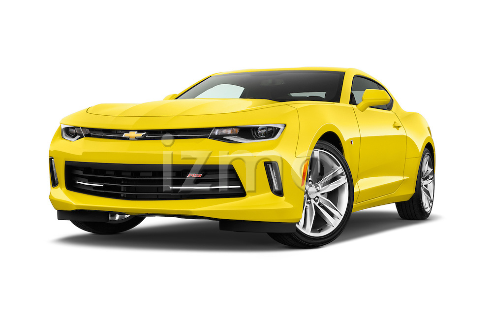 Stock pictures of low aggressive front three quarter view of 2016 Chevrolet CAMARO 2LT 2 Door coupe Low Aggressive