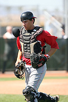 Jake Long, Cincinnati Reds 2010 minor league spring training..Photo by:  Bill Mitchell/Four Seam Images.