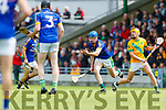 Jordan Brick Kilmoyley in action against Pat Corridan Lixnaw in the Kerry County Senior Hurling championship Final between Kilmoyley and Lixnaw at Austin Stack Park on Sunday.