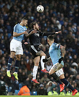 Burnley's Jeff Hendrick vies for possession with Manchester City's Danilo<br /> <br /> Photographer Rich Linley/CameraSport<br /> <br /> Emirates FA Cup Fourth Round - Manchester City v Burnley - Saturday 26th January 2019 - The Etihad - Manchester<br />  <br /> World Copyright © 2019 CameraSport. All rights reserved. 43 Linden Ave. Countesthorpe. Leicester. England. LE8 5PG - Tel: +44 (0) 116 277 4147 - admin@camerasport.com - www.camerasport.com