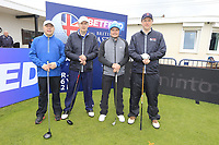 Eddie Pepperell (ENG) and team during the Hero Pro-am at the Betfred British Masters, Hillside Golf Club, Lancashire, England. 08/05/2019.<br /> Picture Fran Caffrey / Golffile.ie<br /> <br /> All photo usage must carry mandatory copyright credit (&copy; Golffile | Fran Caffrey)