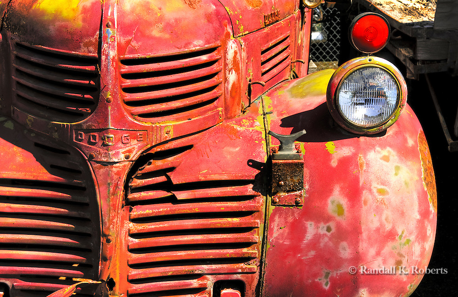 Rusty red dodge truck, Sprague, Washington