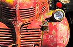 Rusty red dodge truck, Sprague, Washington