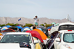 The camping area at Weekend 1 of the Coachella Valley Music and Arts Festival in Indio, California April 10, 2015. (Photo by Kendrick Brinson)