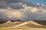 Passing summer thunderstorm over the dunes at Sand Mountain, Nevada.