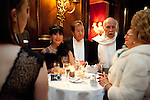 May0060348 . Daily Telegraph<br /> <br /> Viennese elite having drinks at the Sacher Hotel before the Vienna Opera Ball, an annual Austrian society event which started in 1935 but was suspended during WWII .<br /> Tickets to the ball start at &euro;270 and a box in the Opera House costs more than &euro;20,000.<br /> It is one of the most exclusive events in the Viennese social calendar and is always kicked off with 186 debutantes and their partners dancing the opening waltz but also attracts celebrities from across the globe .<br /> <br /> Vienna 12 Feb 2015