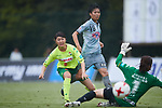 (L to R) <br /> Ayaka Nishikawa (JEF Ladies), <br /> Riko Ueki (Beleza), <br /> SEPTEMBER 17, 2017 - Football / Soccer : <br /> 2017 Plenus Nadeshiko League Division 1 match <br /> between JEF United Ichihara Chiba Ladies 0-1 NTV Beleza <br /> at Frontier Soccer Field in Chiba, Japan. <br /> (Photo by AFLO SPORT)