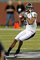 26 December 2010:  FIU wide receiver Jacob Younger (88) passes in the fourth quarter as the FIU Golden Panthers defeated the University of Toledo Rockets, 34-32, to win the 2010 Little Caesars Pizza Bowl at Ford Field in Detroit, Michigan.