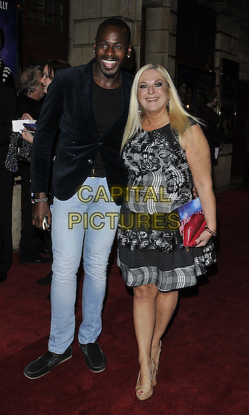 LONDON, ENGLAND - OCTOBER 23: Ben Ofoedu &amp; Vanessa Feltz attend the &quot;Memphis&quot; press night performance, Shaftesbury Theatre, Shaftesbury Avenue, on Thursday October 23, 2014 in London, England, UK. <br /> CAP/CAN<br /> &copy;Can Nguyen/Capital Pictures