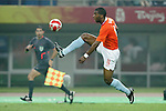 07 August 2008: Ryan Babel (NED).  The men's Olympic team of the Netherlands played the men's Olympic soccer team of Nigeria at Tianjin Olympic Center Stadium in Tianjin, China in a Group B round-robin match in the Men's Olympic Football competition.