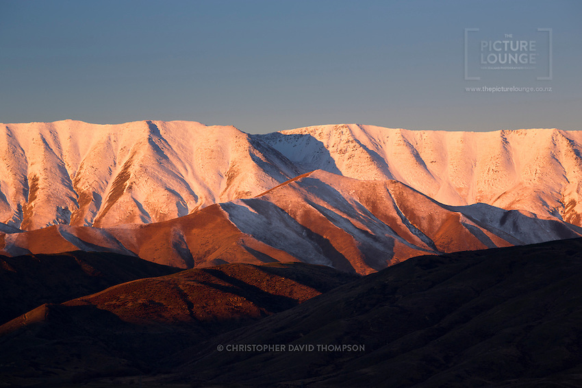 Beautiful evening Mt St Bathans captured by Wanaka Landscape Photographer Christopher David Thompson