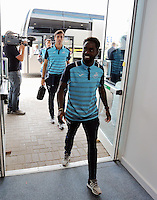 Pictured: Nathan Dyer of Swansea City arrives at the stadium Saturday 27 August 2016<br /> Re: Swansea City FC v Leicester City FC Premier League game at the King Power Stadium, Leicester, England, UK