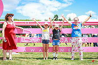 Fabulous rays of energy: Ailish Keenan, Kaitlyn Wilkin and Jayde Timmons enjoy The course walk for the Bayleys Real Estate World Cup Jumping Final. 2018 NZL-Continental Cars Audi Waitemata World Cup Festival. Woodhill Sands. Helensville, Auckland. Copyright Photo: Libby Law Photography